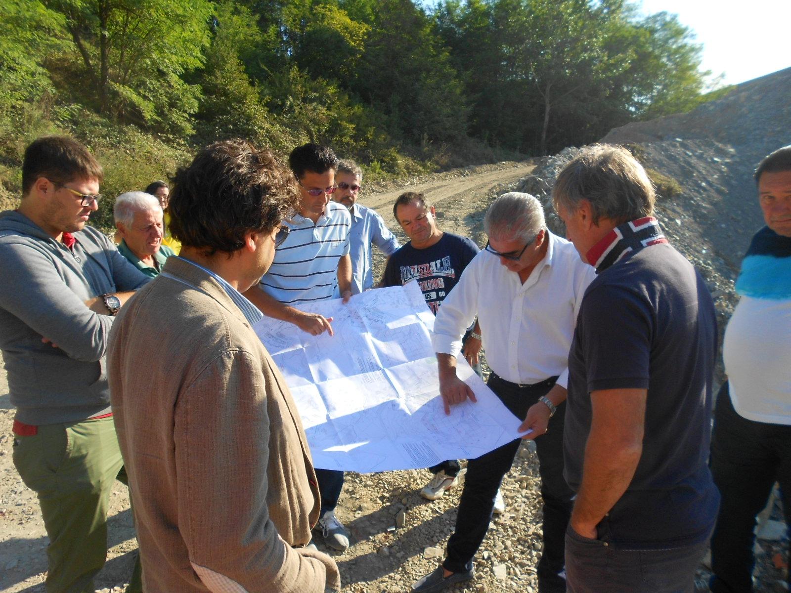 Monte San Savino, sopralluogo aperto alla cittadinanza nell'area della ex Fornace