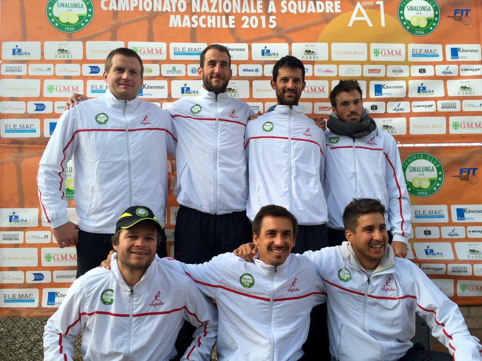 TC Sinalunga si inchina con onore ai campioni d'Italia di Genova