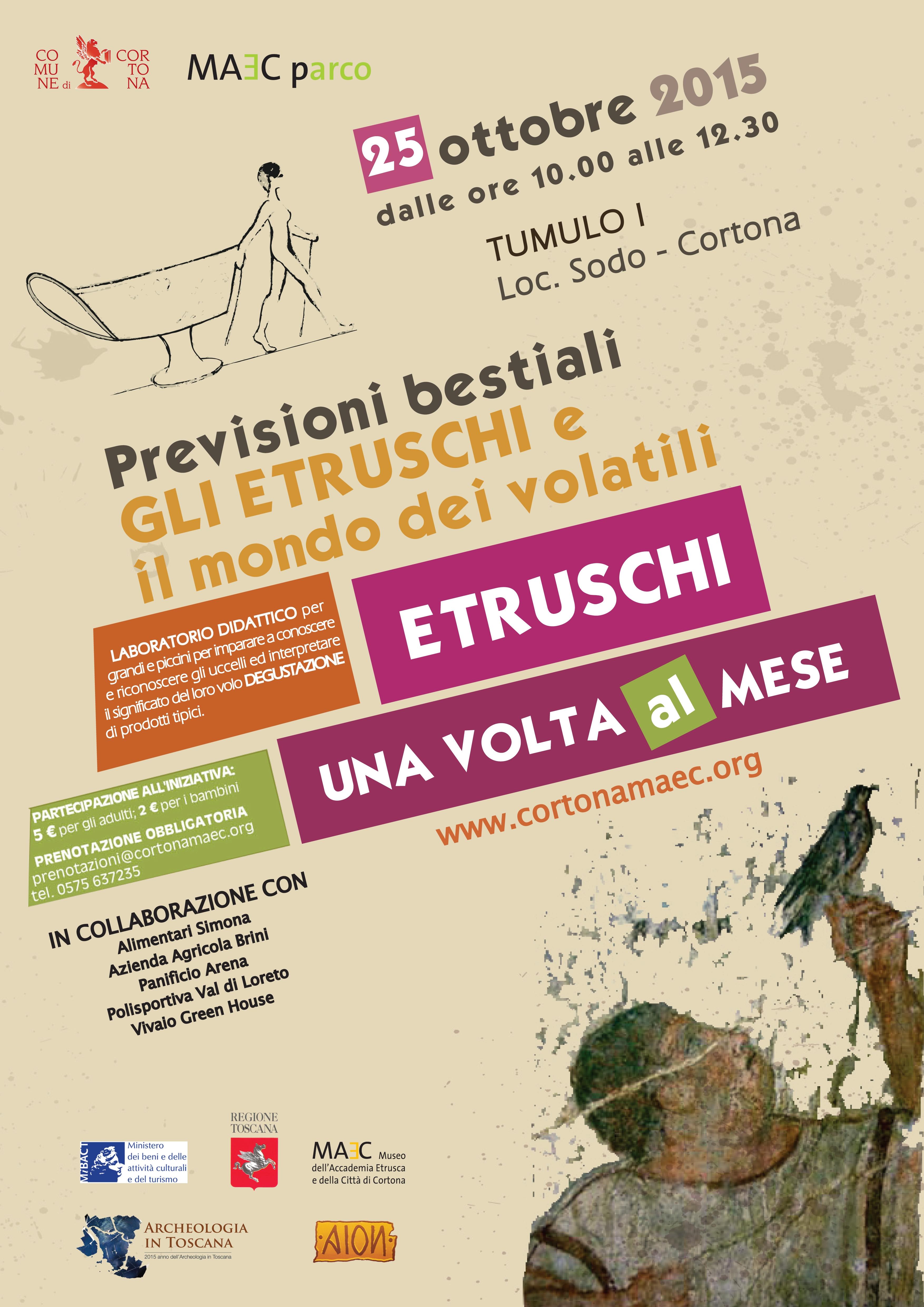 Gli Etruschi e le loro previsioni 'bestiali', iniziativa al Parco Archologico del Sodo