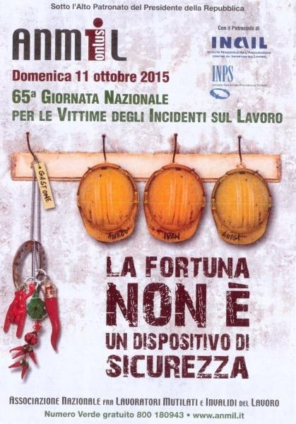 A Monte San Savino ANMIL promuove la Giornata Nazionale per le Vittime degli Incidenti sul lavoro