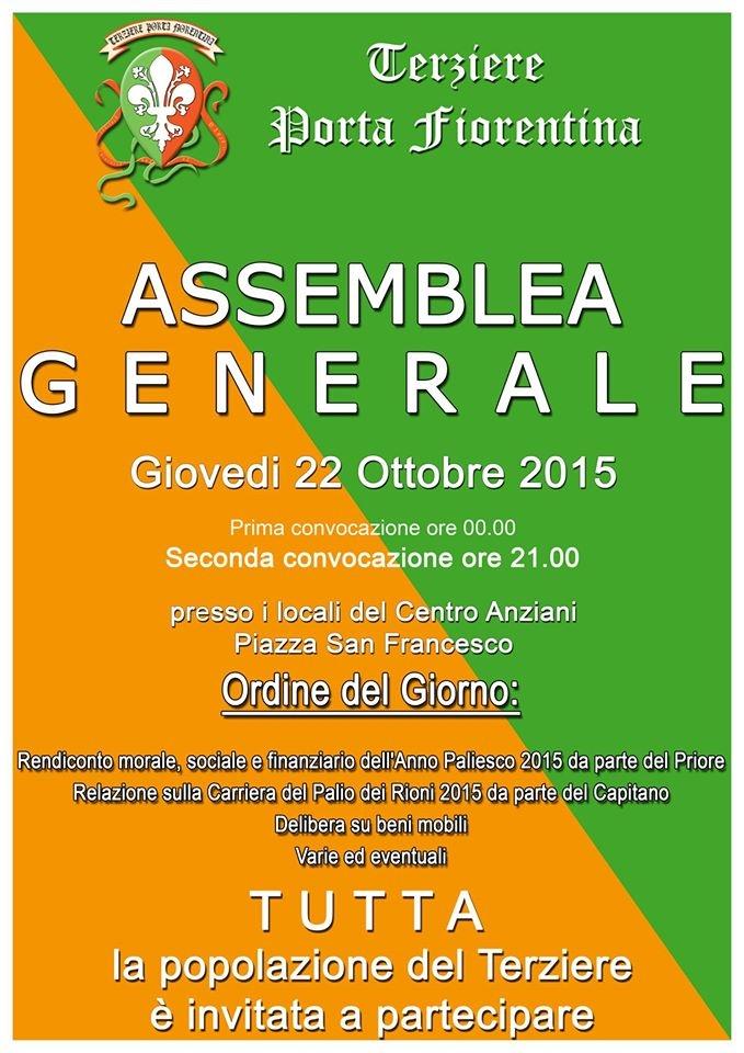 Assemblea Generale del Terziere Porta Fiorentina