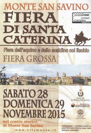Fiera di Santa Caterina, torna il tradizionale appuntamento a Monte San Savino