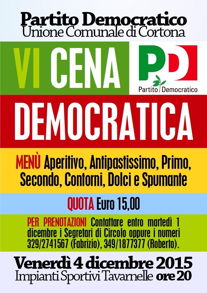 Cena Democratica presso gli impianti della Polisportva Val di Loreto