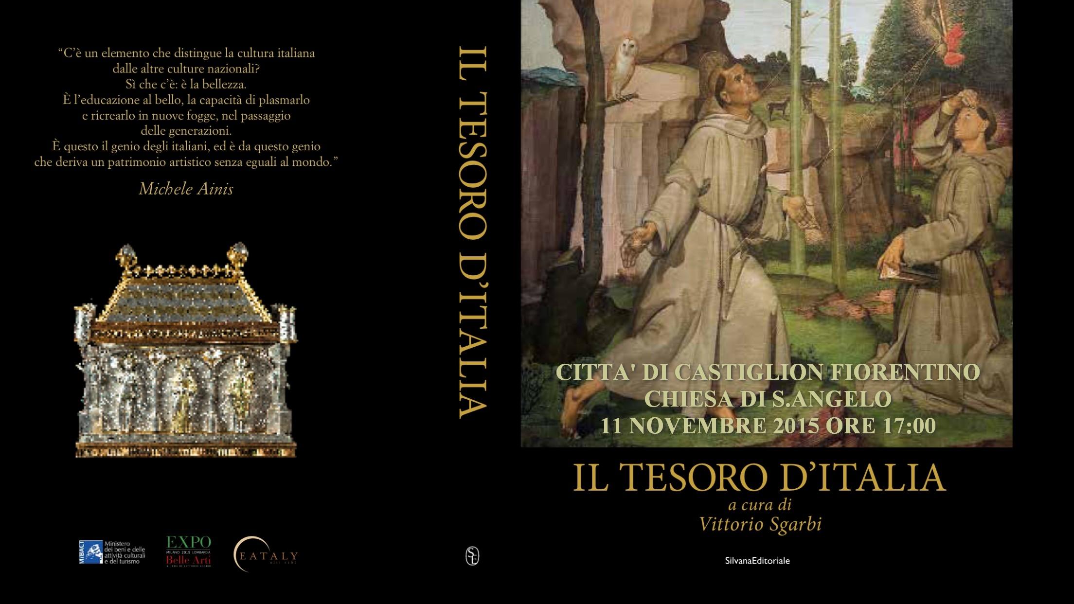 'Il tesoro d'Italia': presentazione del catalogo a cura di Vittorio Sgarbi a Castiglion Fiorentino