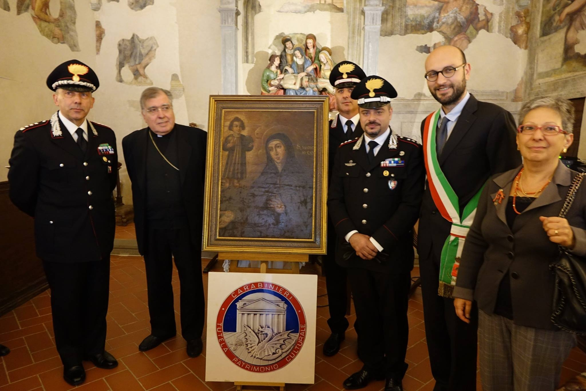 Tela di Santa Margherita riconsegnata col fondamentale operato dei Carabinieri del Comando Tutela Patrimonio Culturale