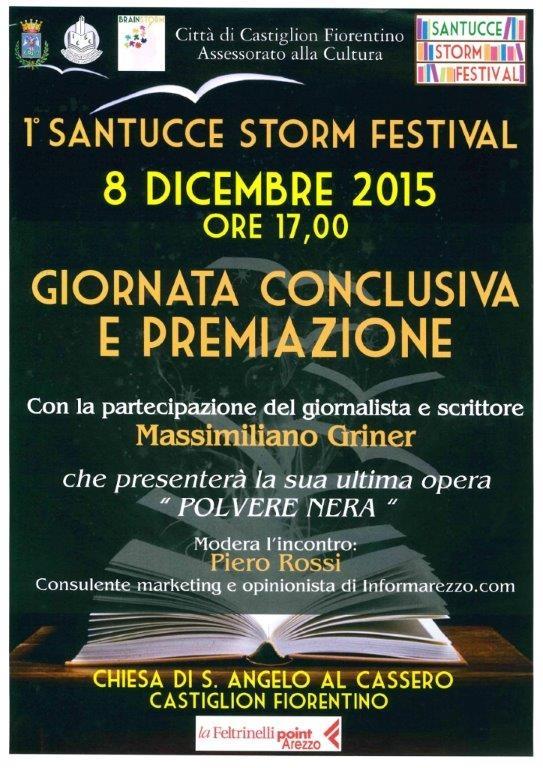 Santucce Storm Festival, l'8 Dicembre giornata conclusiva con Massimiliano Griner