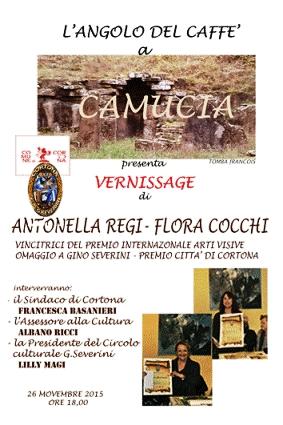 'Camucia in arte', via a una serie di mostre nella frazione cortonese con Antonella Regi e Flora Cocchi