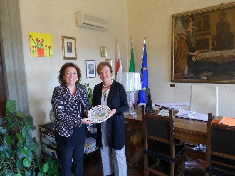 Monte San Savino: il Prefetto Alessandra Guidi ha incontrato il Sindaco Scarpellini