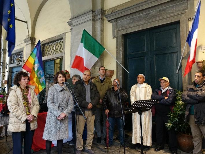 Cortona, anche i rappresentanti delle comunità islamiche alla manifestazione contro il terrorismo