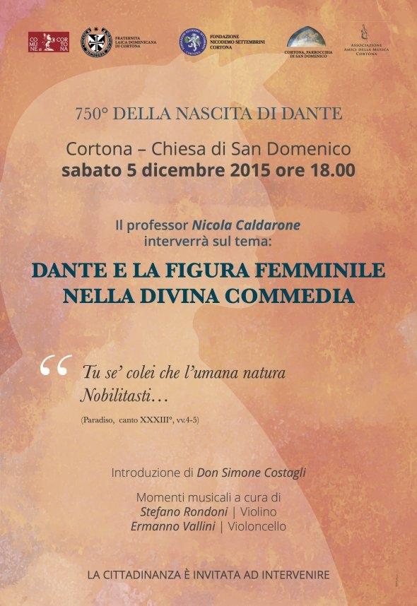 Dante e la figura femminile nella Divina Commedia, conferenza del prof. Caldarone a Cortona