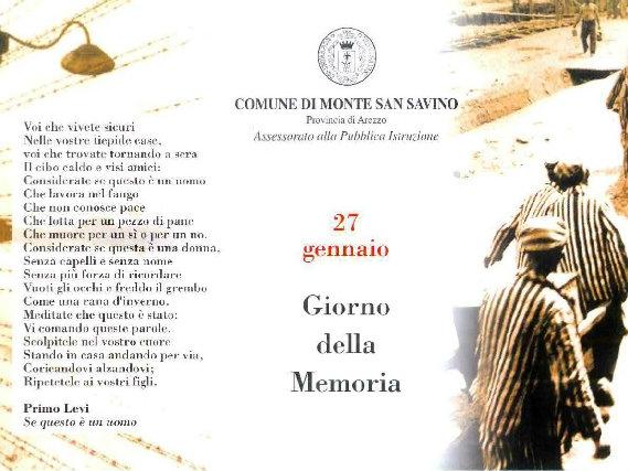 Giorno della Memoria, a Monte San Savino 'Se questo è un uomo' sarà donato alle scuole