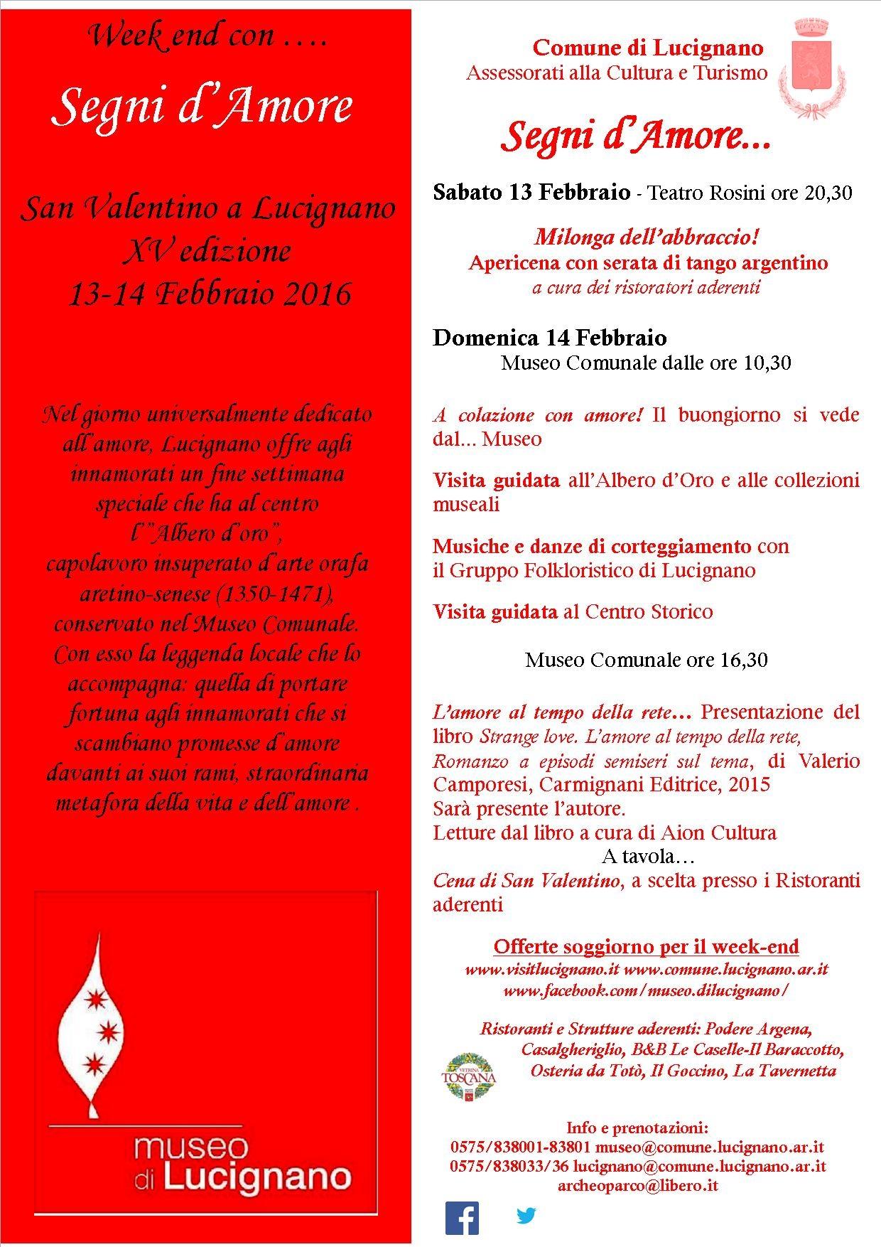 San Valentino speciale a Lucignano con 'Segni d'amore'