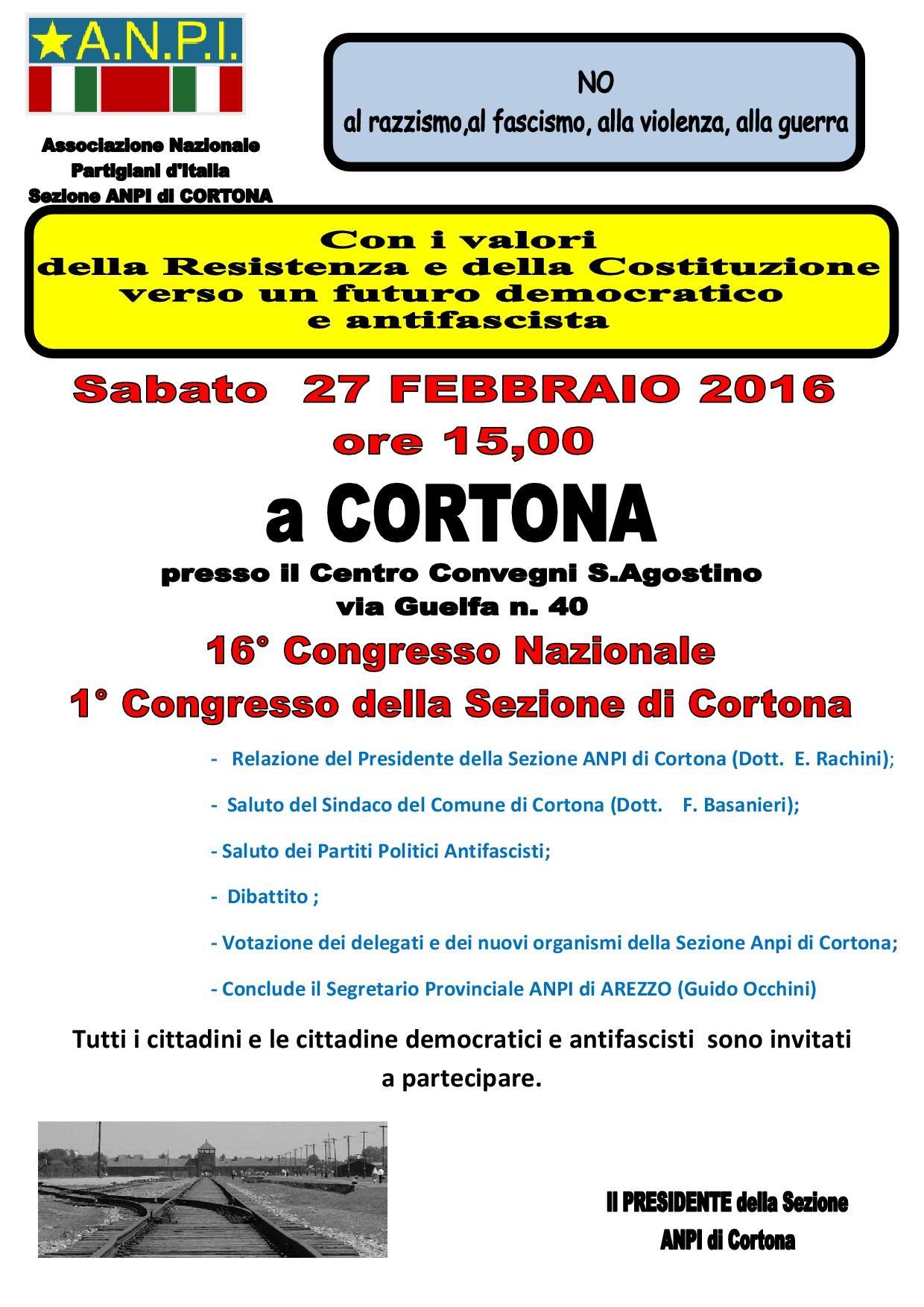 1° Congresso della Sezione Cortonese di ANPI