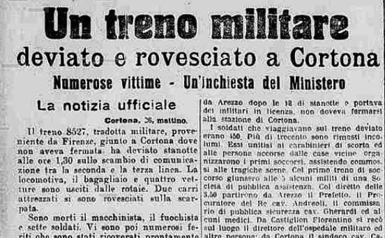 Cento anni fa, la strage della stazione di Camucia