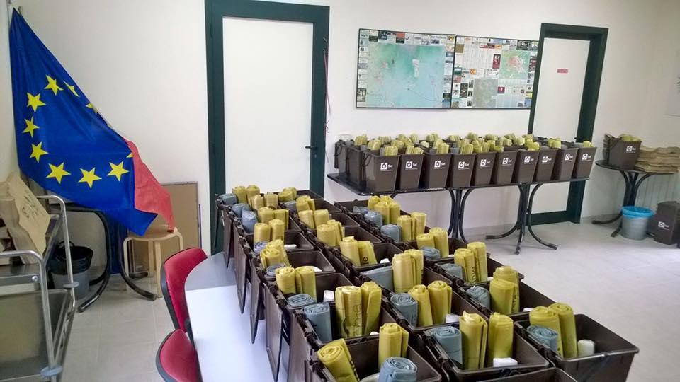 Terontola, bene la consegna dei kit del 'Porta a Porta'
