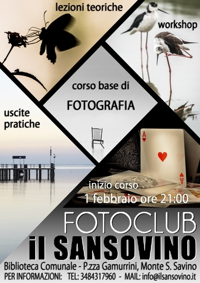 Corso di base di fotografia promosso dal Fotoclub 'Il Sansovino'