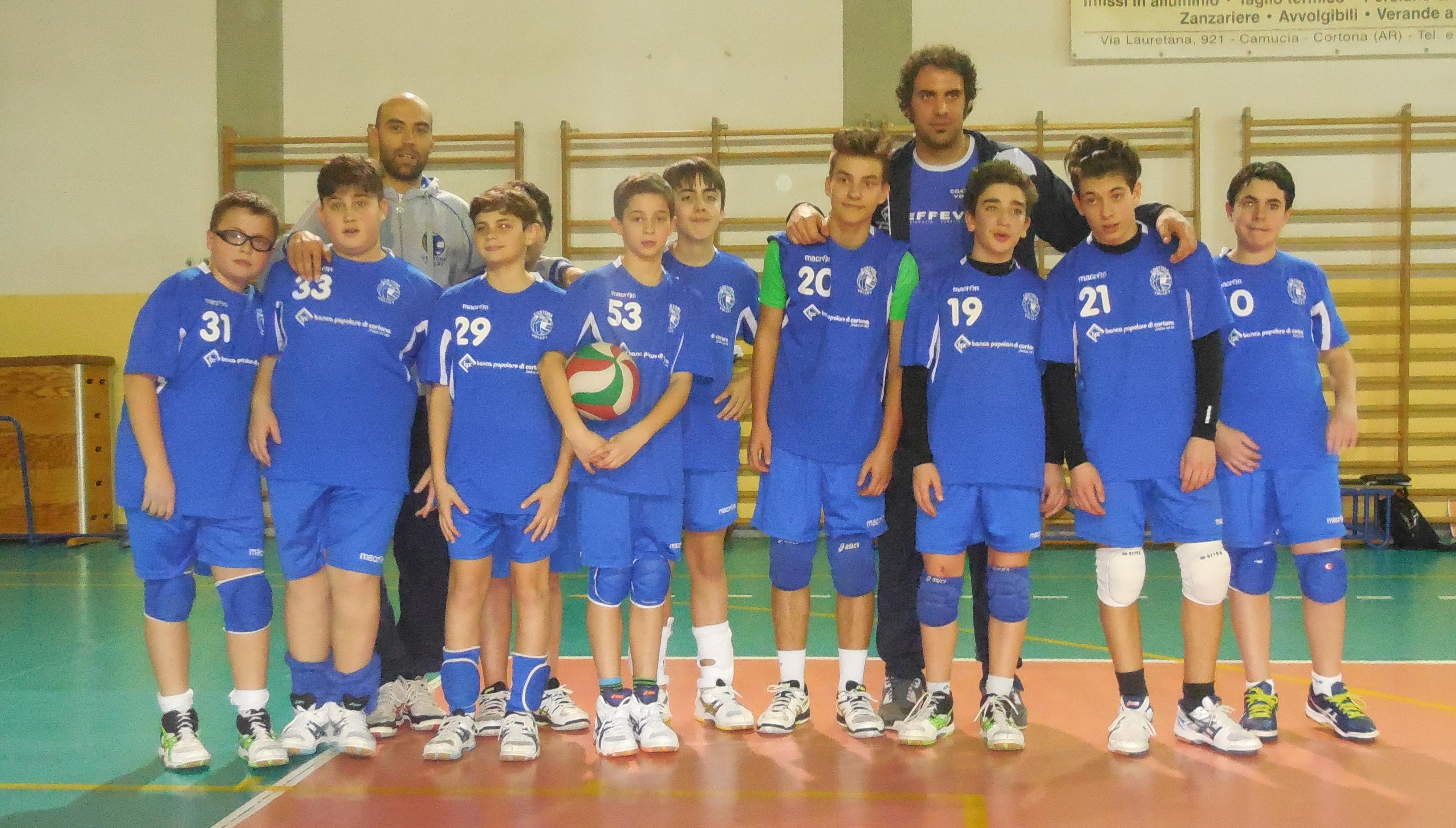 Cortona Volley, ancora bene le giovanili: l'Under 14 è campione provinciale