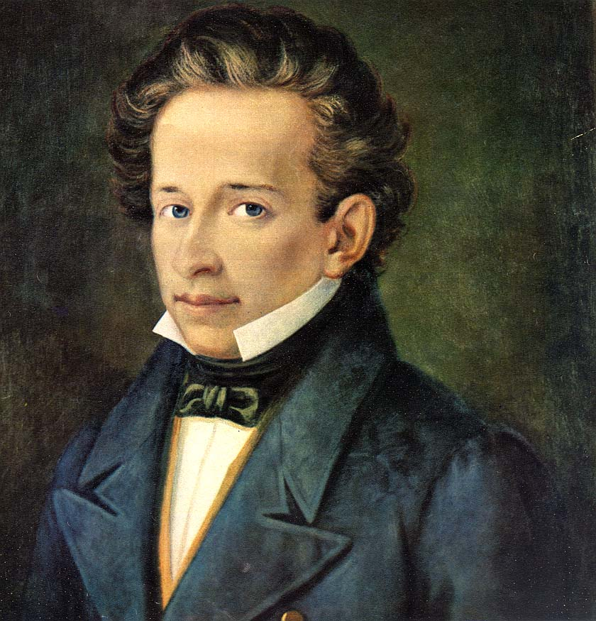 Leopardi Giacomo 1798-1837 - ritr. A Ferrazzi Recanati casa Leopardi