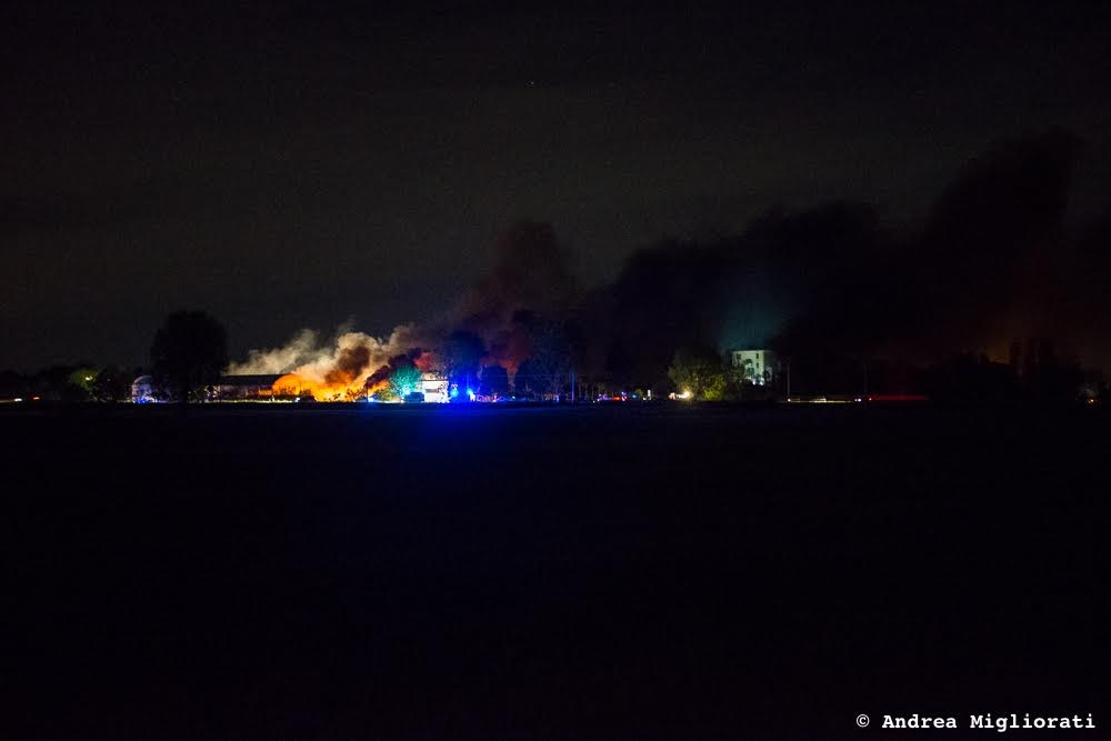 Incendio Ex Tab, ultime novità. La Usl rassicura
