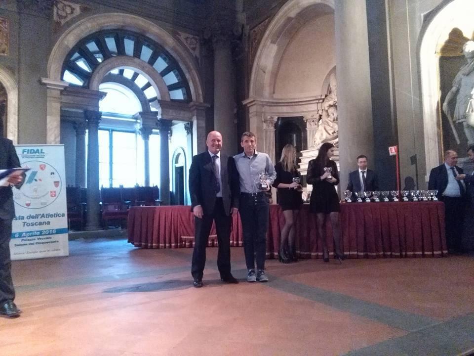 Donnini premiato alla Festa dell'Atletica Toscana