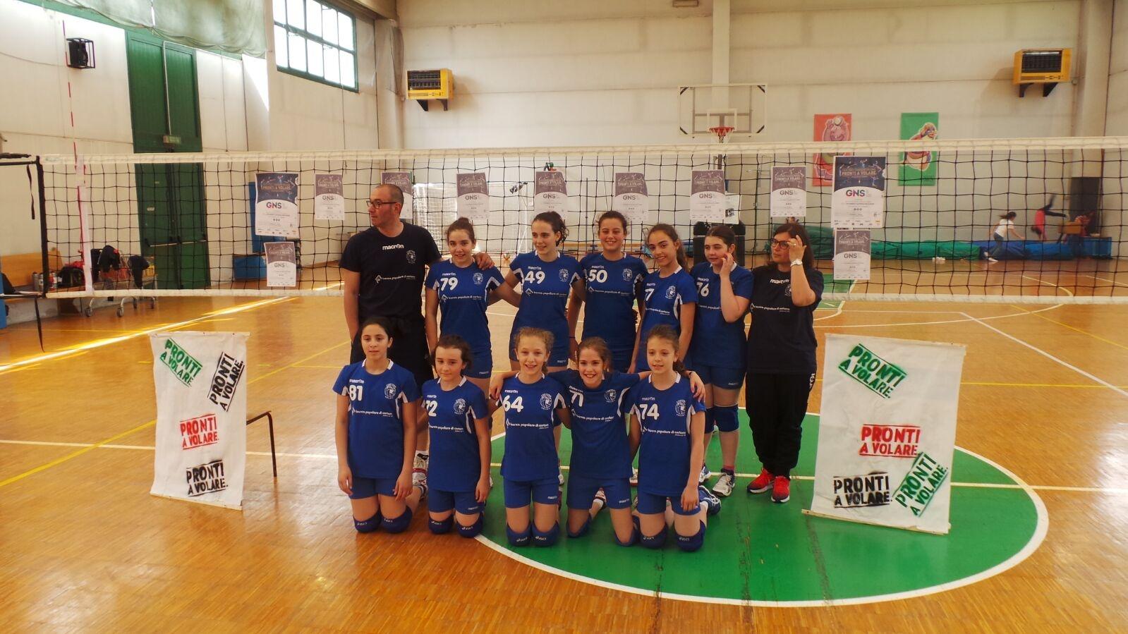 L'Under 12 femminile del Cortona Volley sul podio delle finali provinciali