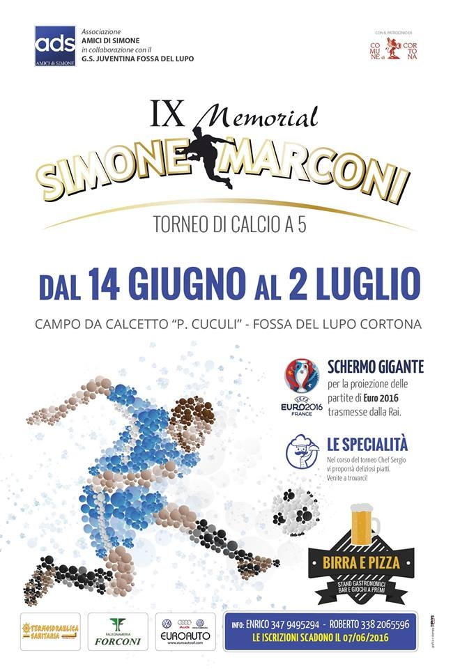 Memorial Simone Marconi, via il 14 Giugno a Fossa del Lupo