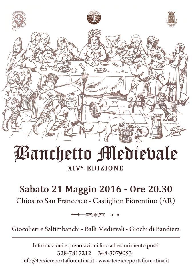Torna a Castiglion Fiorentino il banchetto medievale del Terziere Porta Fiorentina