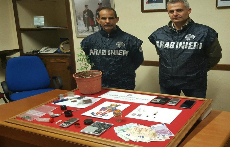 Stroncato giro di droga in Valdichiana, 3 arresti e 63 denunce