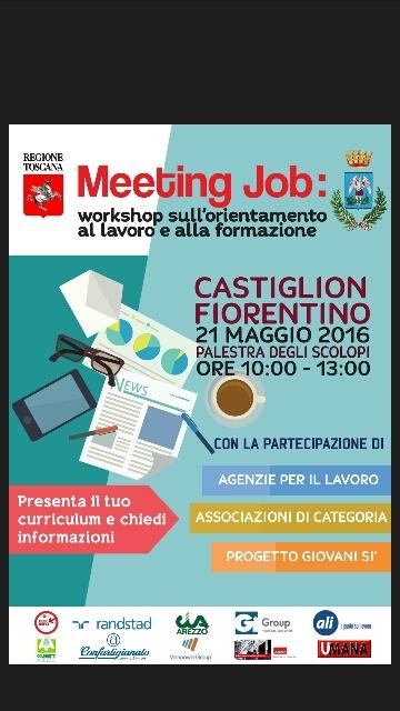 Orientamento lavoro e formazione, workshop a Castiglion Fiorentino