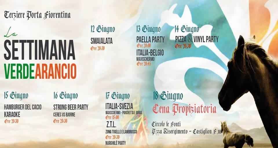 Settimana Pre-Palio a Porta Fiorentina, il programma degli eventi