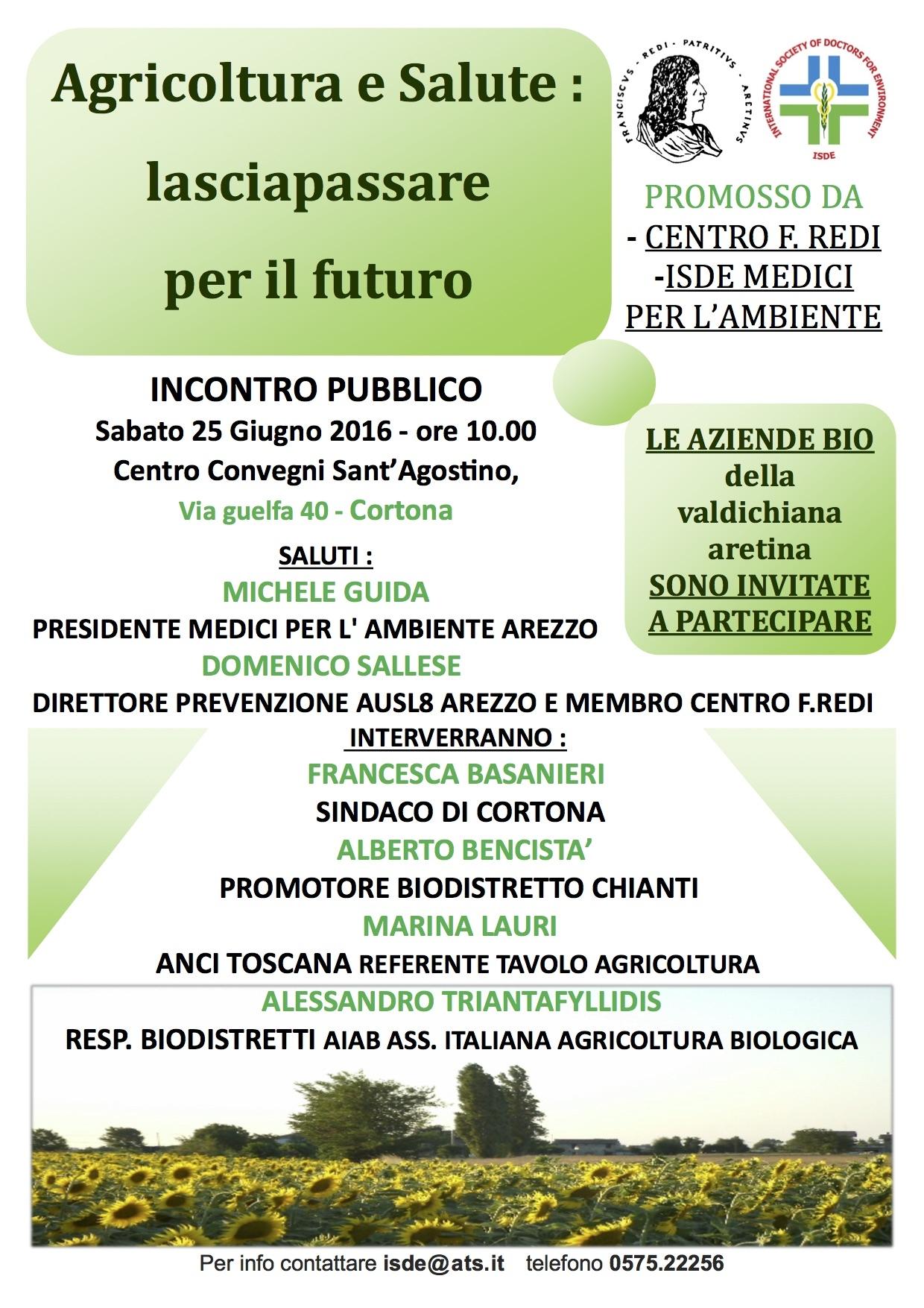 Agricoltura e salute, incontro a Cortona