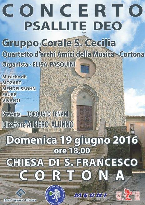'Psallite Deo', concerto nella chiesa di San Francesco a Cortona