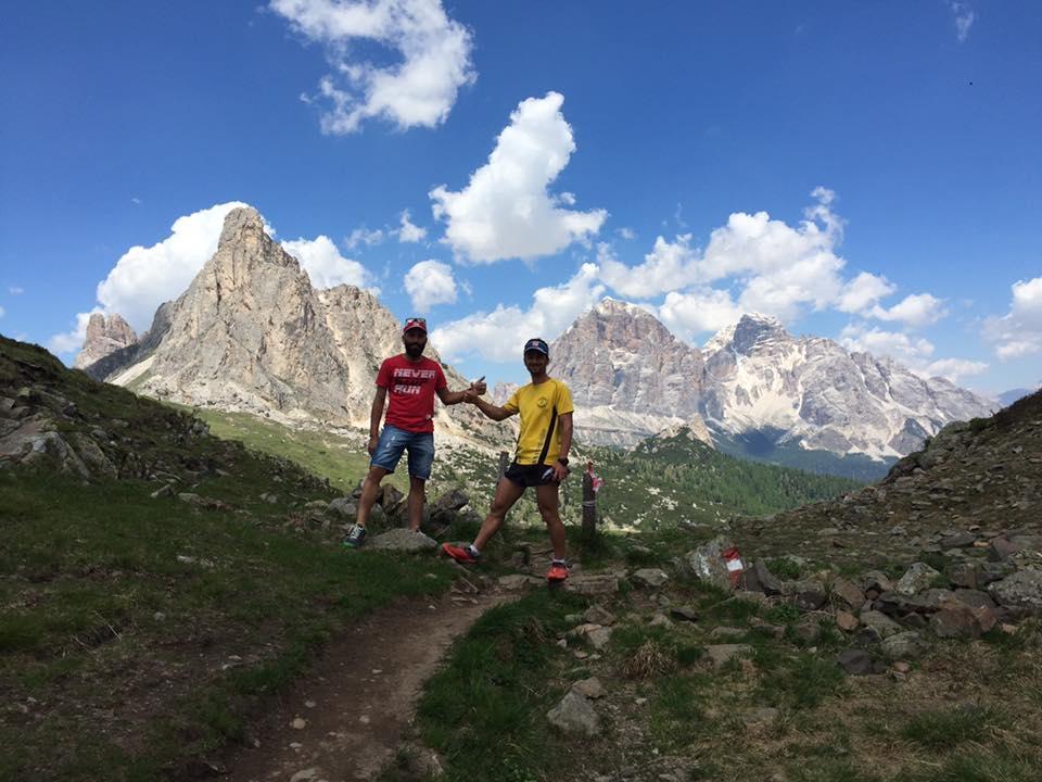 A Cortina D'Ampezzo tanti atleti dell'Ultratrail anche dalla Valdichiana