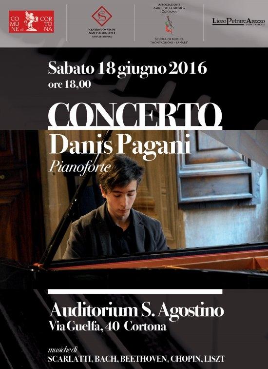 Concerto di pianoforte di Danis Pagani a Sant'Agostino