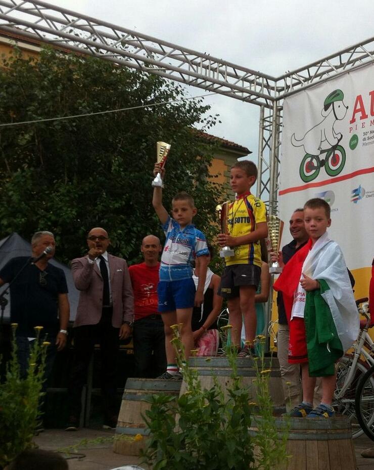 Ciclismo: il giovanissimo Tommaso Roggi terzo ai campionati italiani