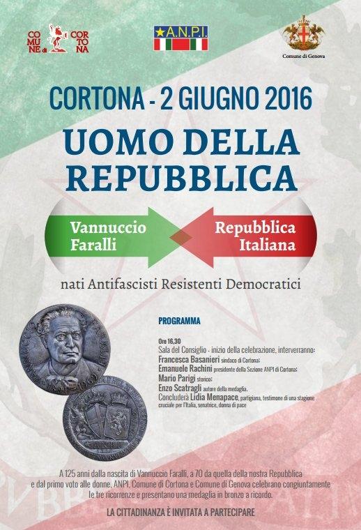 2 Giugno a Cortona nel ricordo di Vannuccio Faralli e della resistenza