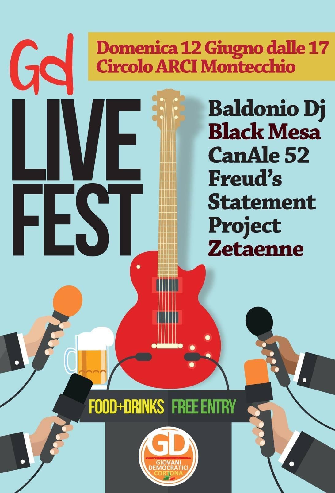 Live Fest dei Giovani Democratici a Montecchio di Cortona