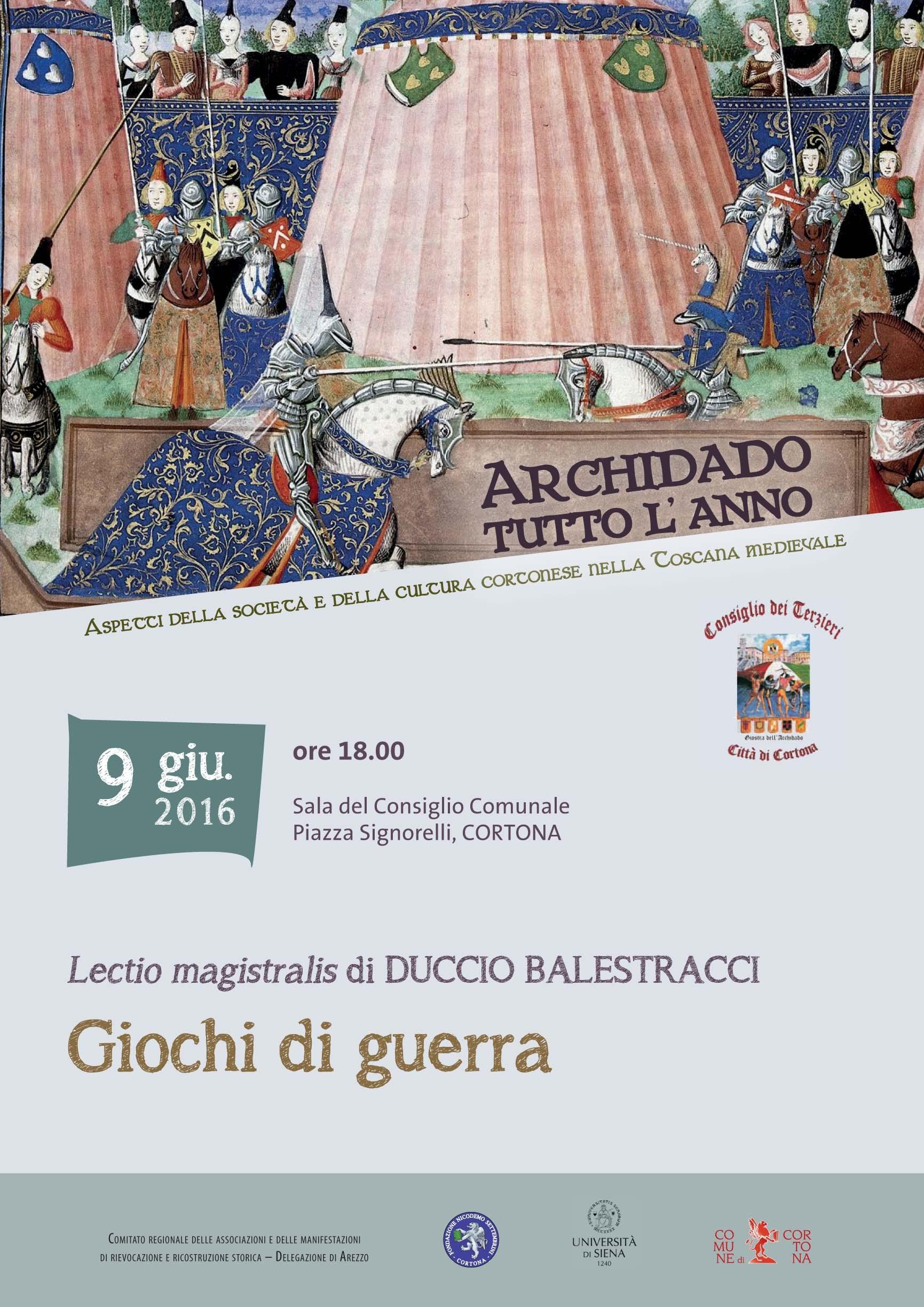 Appuntamento conclusivo del ciclo 'Archidado tutto l'anno' a Cortona