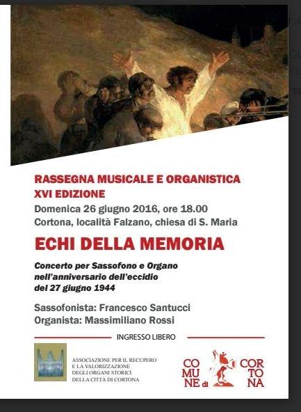 'Echi della memoria', concerto per organo nella Chiesa di Falzano