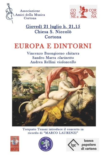 In ricordo di Marco Laurenzi il concerto 'Europa e dintorni' a Cortona