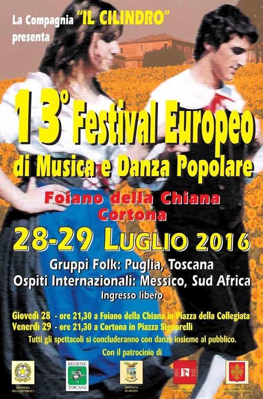 Festival Europeo di Musica e Danza Popolare, due appuntamenti in Valdichiana