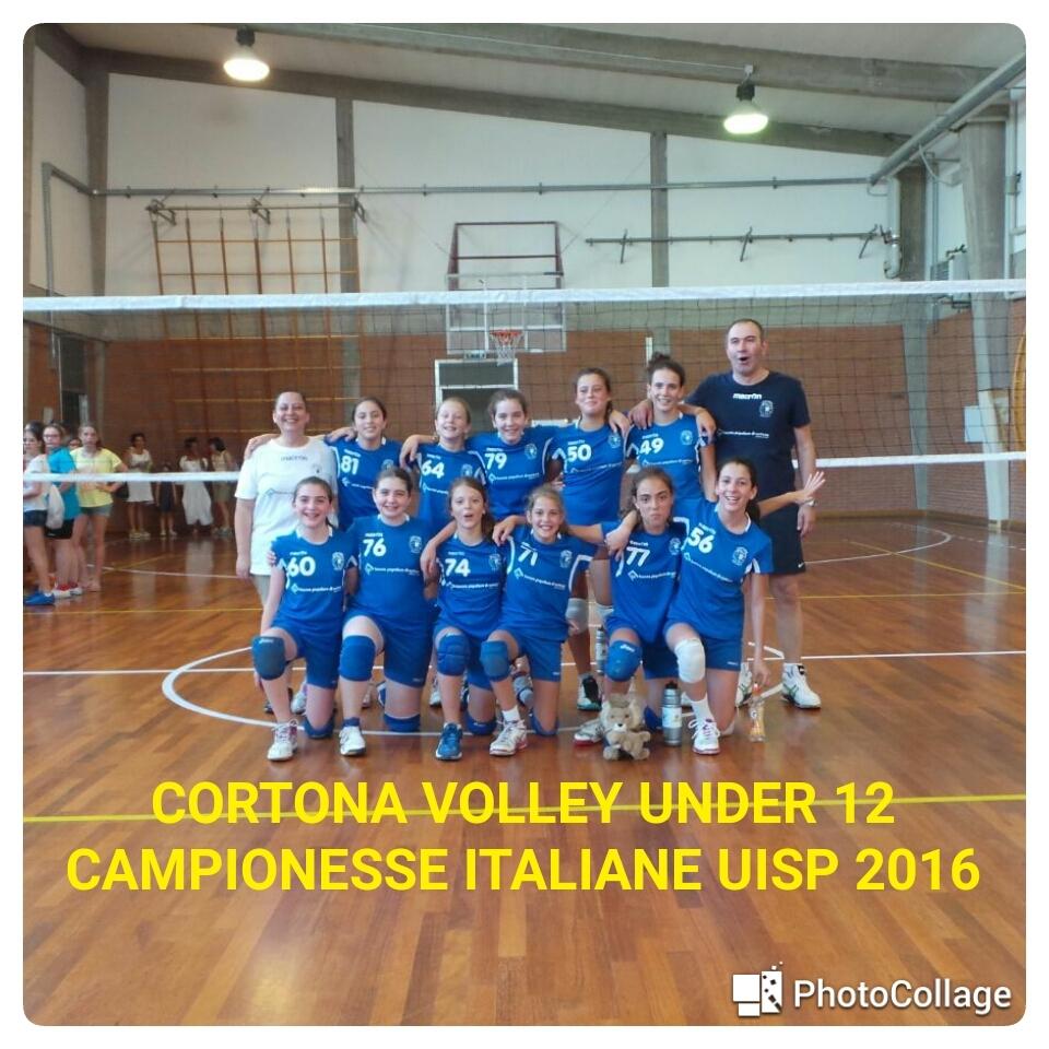 Cortona Volley, l'Under 12 femminile è campione italiano Uisp