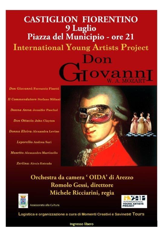 Sabato torna l'Opera in piazza a Castiglion Fiorentino con il 'Don Giovanni'
