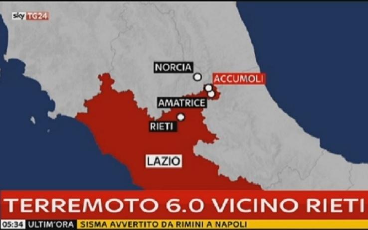 Terremoto a Rieti e provincia: la scossa è stata avvertita anche in Valdichiana