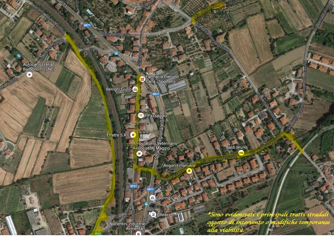 L'Acqua di Montedoglio a Castiglioni, quadro completo degli interventi e delle modifiche alla viabilità