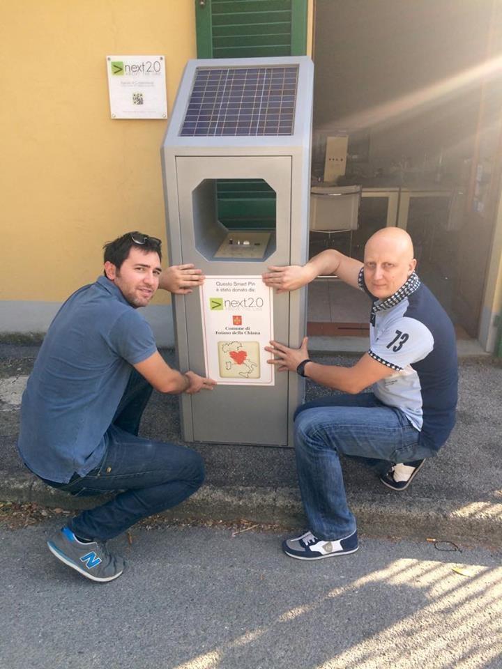 Foiano dona una 'smart Pin' alle zone colpite dal sisma