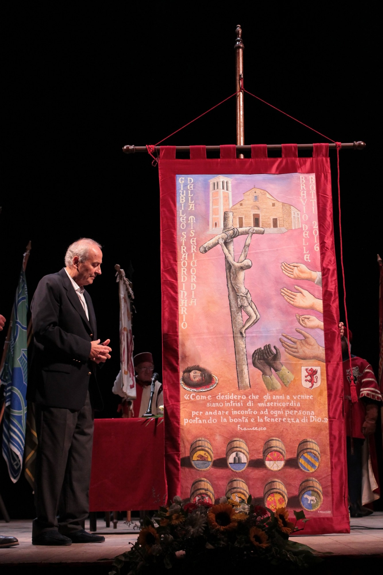 Bravio 2016, presentato il panno dipinto da Olmastroni