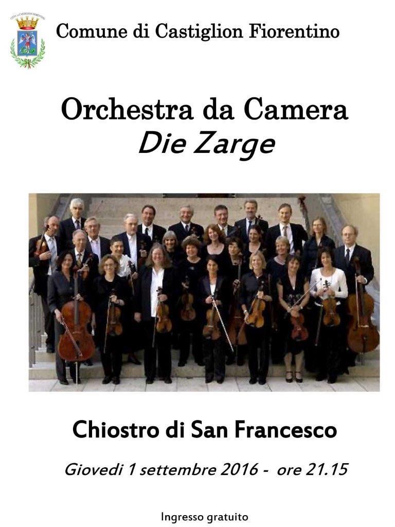 Concerto dell'Orchestra da camera 'Die Zarge' nel Chiostro di San Francesco