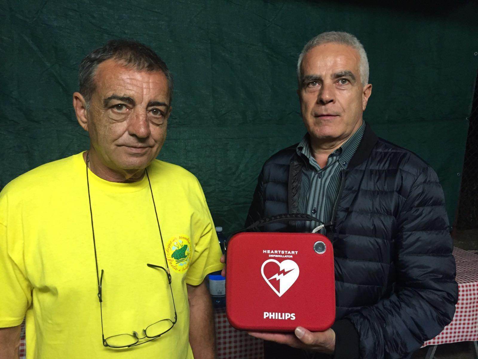 Donato un defibrillatore a Brolio