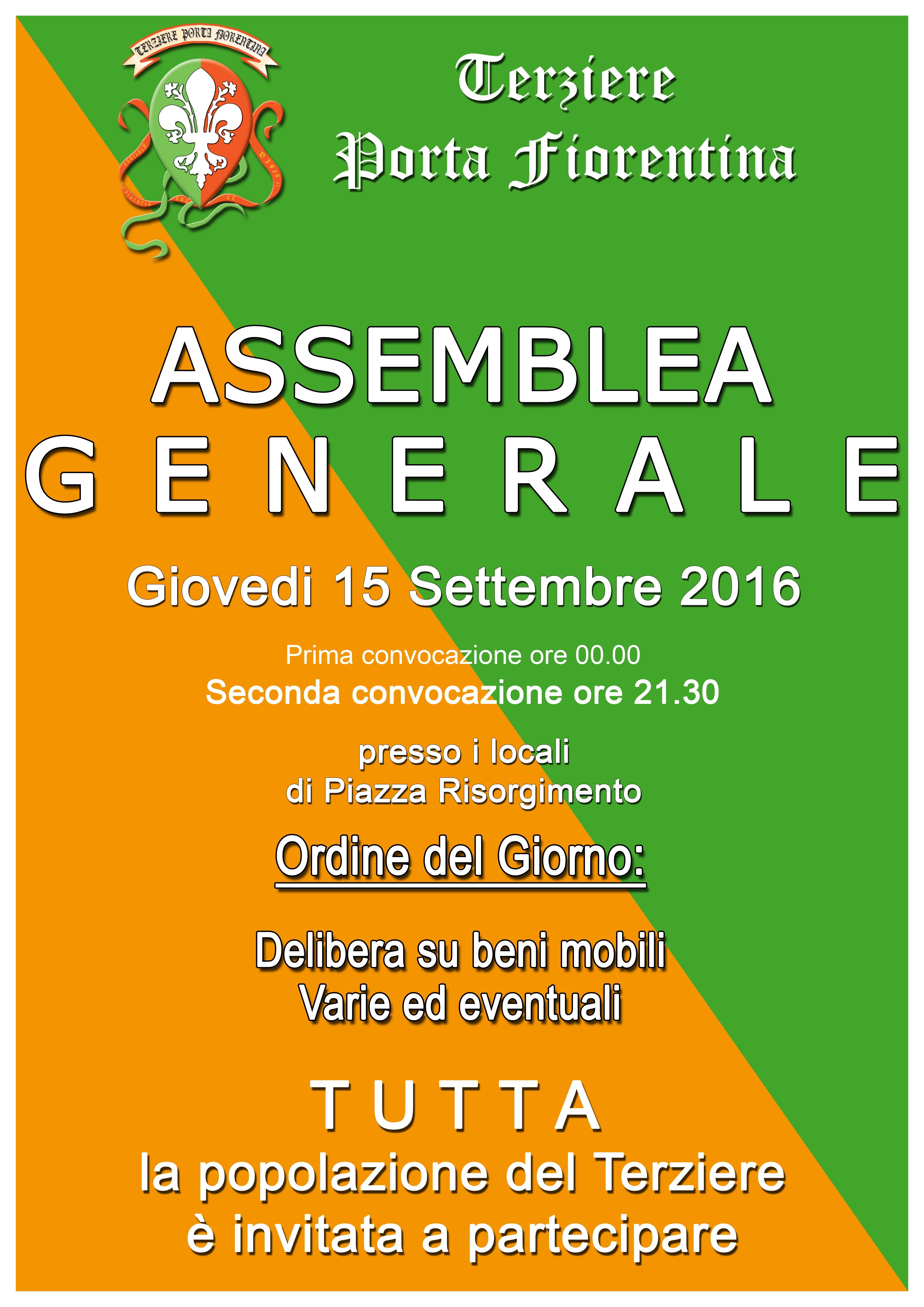 Assemblea del Terziere Porta Fiorentina
